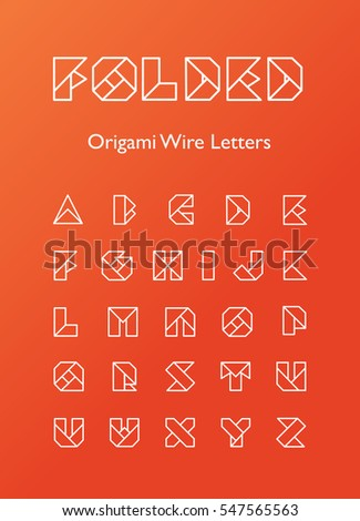 Folded Origami Wire Letters