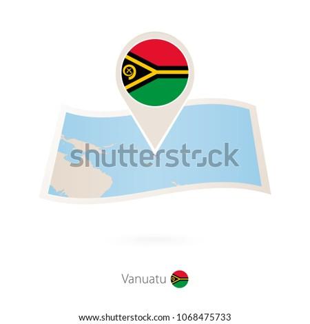 folded paper map of vanuatu