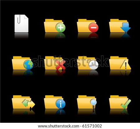 Folder Applications icon set 9 - Glossy Series.  Vector EPS 8 format, easy to edit.