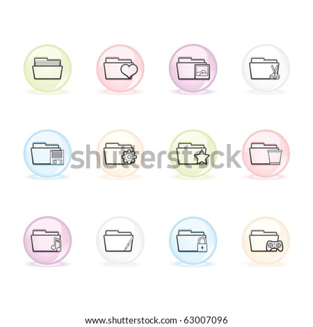 Folder Applications II icon set 10 - Sphere Series.  Vector EPS8 format, easy to edit.
