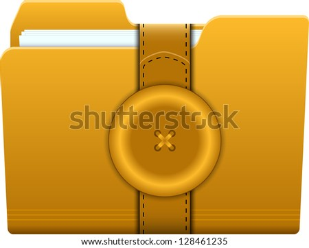 folder closed with buttons