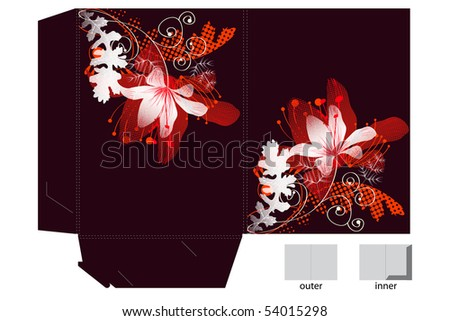 Folder design with decorative lily