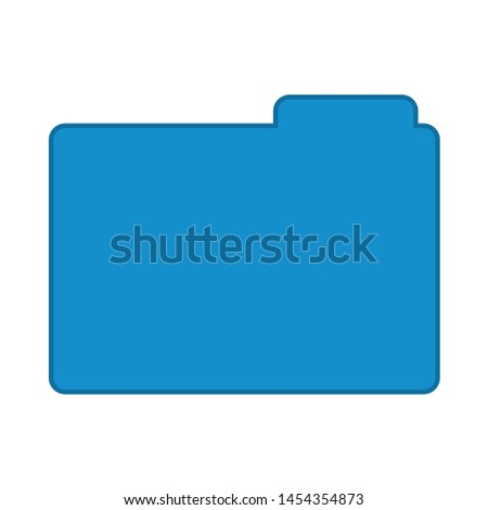 folder icon. flat illustration of folder. vector icon. folder sign symbol