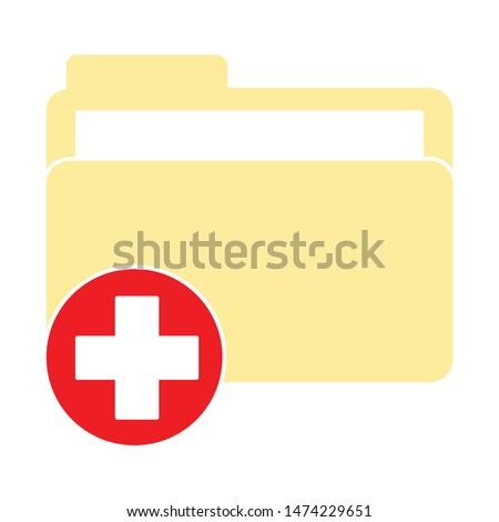 folder icon. flat illustration of folder vector icon. folder sign symbol