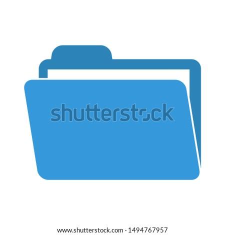 folder icon. flat illustration of folder - vector icon. folder sign symbol