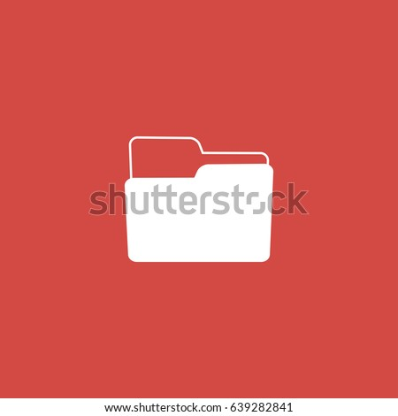 folder icon sign design red