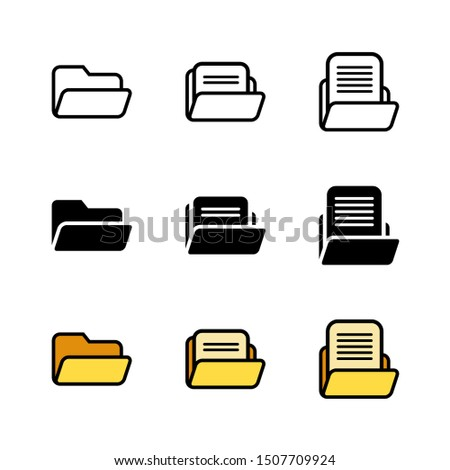 Folder Icon : Suitable for Office Theme, Business / Finance Theme, Education Theme, Digital Theme, Infographics and Other Graphic Related Assets.