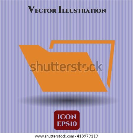 folder icon vector symbol flat eps jpg app web concept website