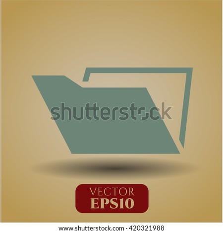 Folder icon vector symbol flat eps jpg app web concept website