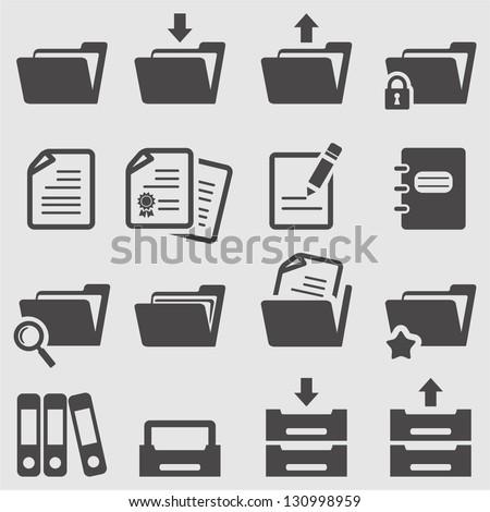 Folder icons set.Vector