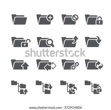 Folder Icons - 1 // Utility Series