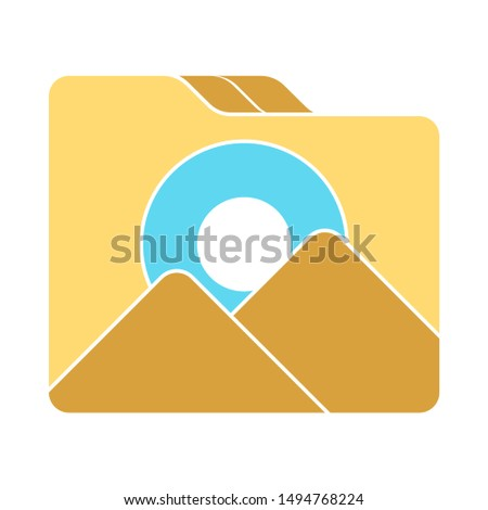 folder images icon. flat illustration of folder images - vector icon. folder images sign symbol