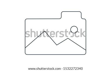 Folder images icon. flat illustration of folder images - vector icon. folder images sign symbol