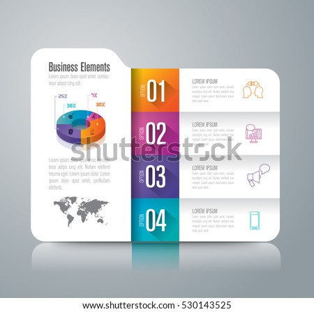Folder infographic design vector and marketing icons can be used for workflow layout, diagram, annual report, web design. Business concept with 4 options, steps or processes.