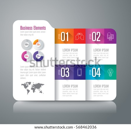 Folder infographics design vector and marketing icons can be used for workflow layout, diagram, annual report, web design. Business concept with 4 options, steps or processes.