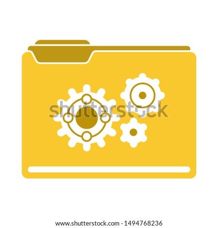 folder setup icon. flat illustration of folder setup - vector icon. folder setup sign symbol