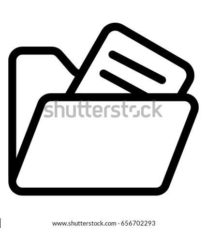Folder Vector Icon Foto d'archivio ©