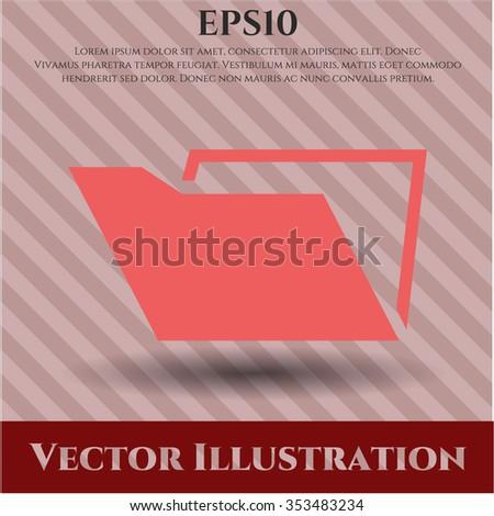 Folder vector icon or symbol
