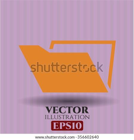Folder vector symbol