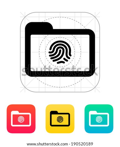folder with fingerprint icon