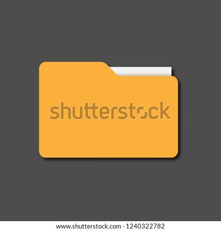 folder. yellow folder for documents. folder with shadow. folder icon