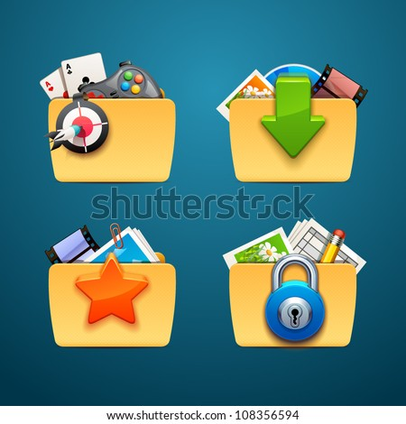 folders-part-2 - stock vector