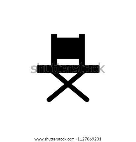 folding chair glyph icon. Element of furniture icon for mobile concept and web apps. This folding chair glyph icon can be used for web and mobile. Premium icon on white background