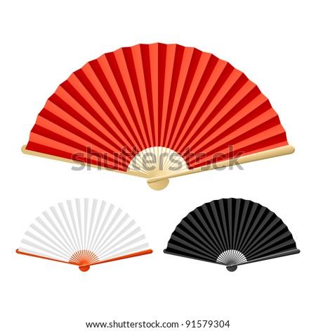 Chinese Fan Vector Folding Fan Vector