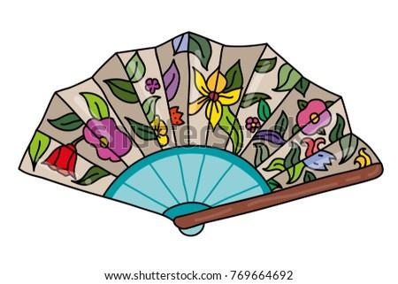 folding female fan decorated...