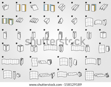 Folding icons for print