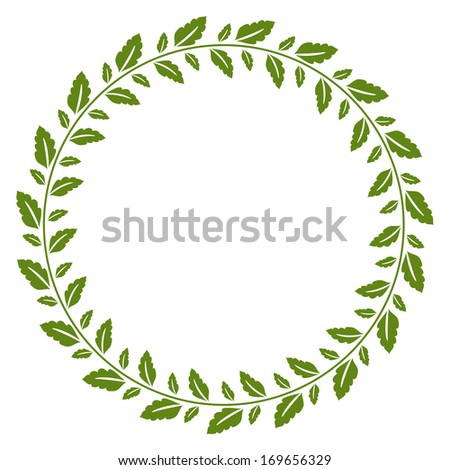 Foliage frame with green foliage