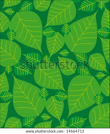 foliage seamless pattern. Select all the art and drop it into your swatches palette to create an Adobe Illustrator pattern.