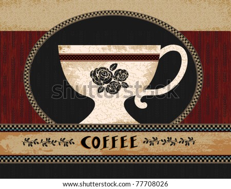 Folk Art Coffee Poster