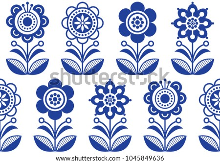 Scandinavian Folk Pattern Download Free Vector Art Stock Graphics