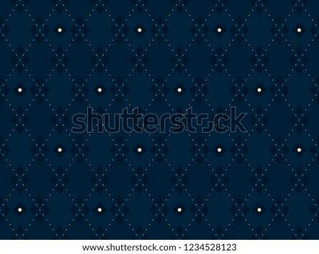 Folk flowers print block for seamless ornament. Minimal floral geometric motif for interior textile, dress fabric, wallpaper. Vintage simple allover indigo vector ombre design. Set Argyle Pattern.