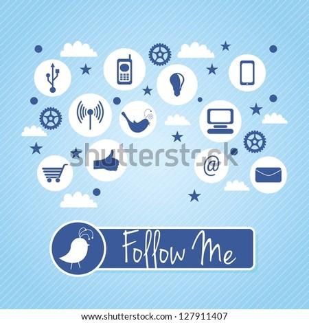 follow me and follow us