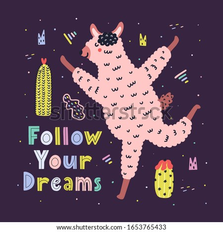 follow your dreams card with a