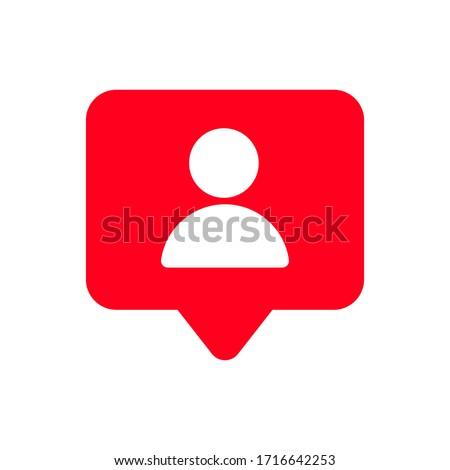 Followers notifications, Social media notifications icons