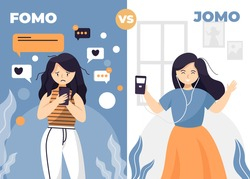 fomo, or the fear of missing out, is a phenomenon that many people experience on a daily basis, it's recently been discovered that jome, or the joy of missing out, is becoming far more commonplace.
