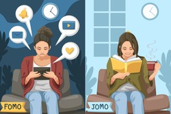 FOMO, or the fear of missing out, is a phenomenon that many people experience on a daily basis, it's recently been discovered that JOMO, or the joy of missing out, is becoming far more commonplace.