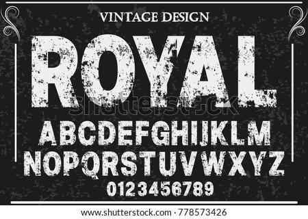 Retro Grunge Style Alphabet Set - Download Free Vector Art, Stock
