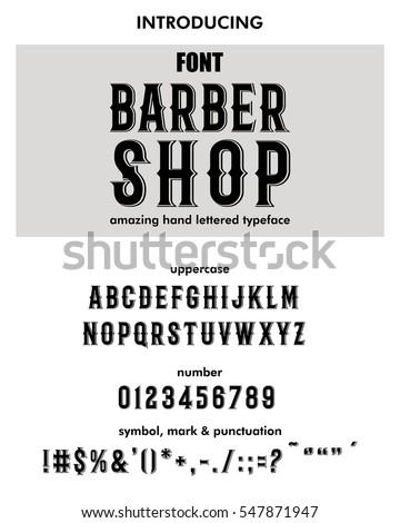 Font.Alphabet.Script.Typeface.Label.Modern Barber Shop typeface. For labels and different type designs