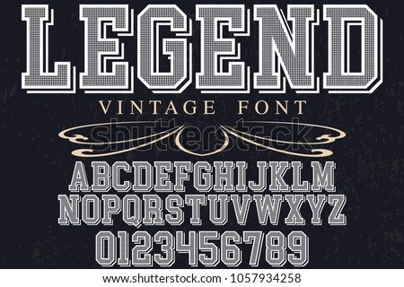 font alphabet typeface vector