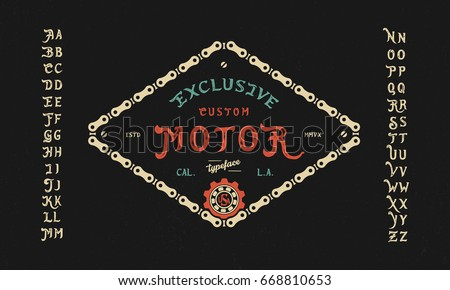 font custom motor hand crafted
