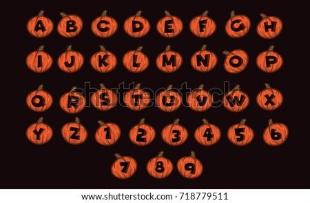 Halloween Alphabet Set - Download Free Vector Art, Stock Graphics ...