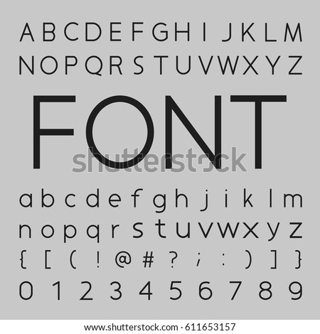 Font Design, letters and numbers vector