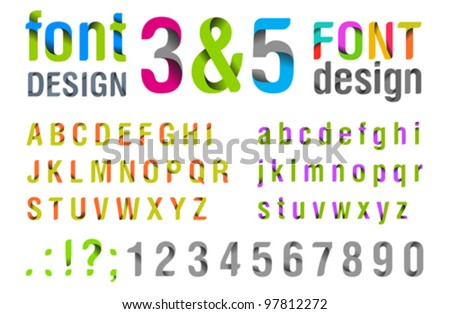Font design Ribbon Alphabet vector Usage for title identity etc