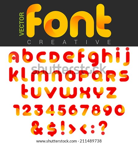 font design vector rounded