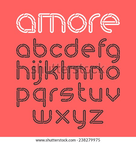 font from chain  alphabet