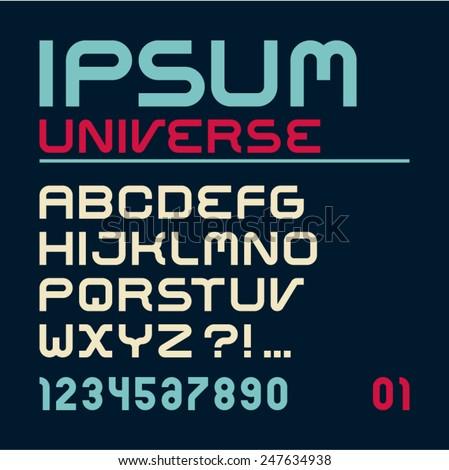 font latin alphabet letters